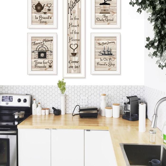 Kitchen Friendship Collection 5-Piece Vignette Framed Wall Art