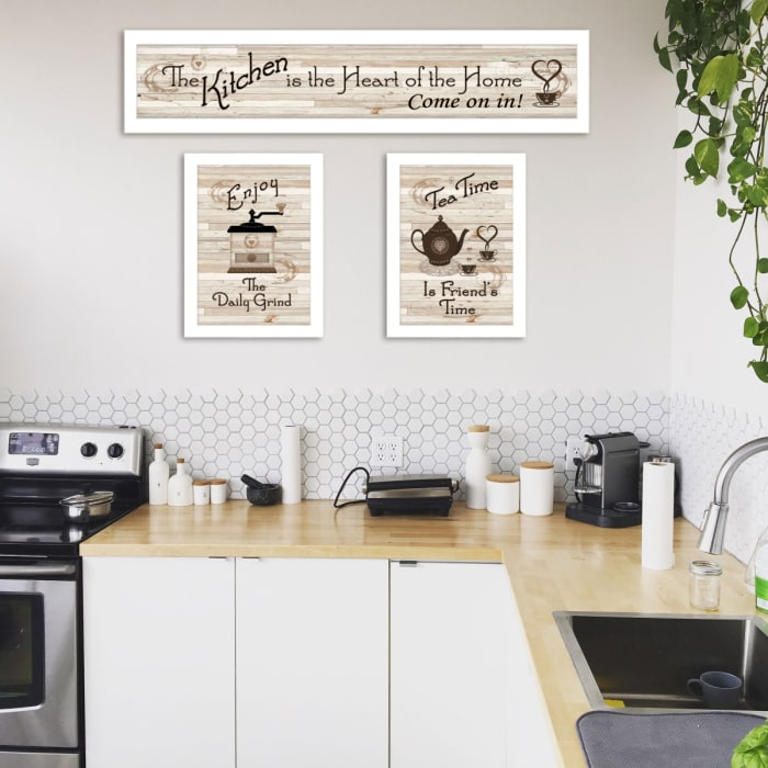 Kitchen Friendship Collection III 3-Piece Vignette by Millwork Engineering Framed Wall Art