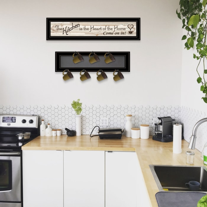 Kitchen Print & Mug Rack Framed Wall Art