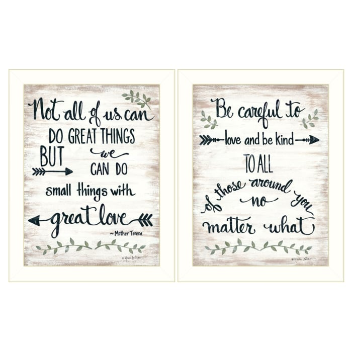 Great Love 2-Piece Vignette by Annie LaPoint Framed Wall Art