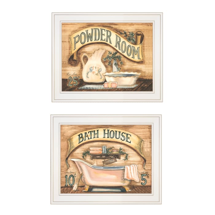 Bath & Powder Room 2-Piece Vignette by Becca Barton Framed Wall Art