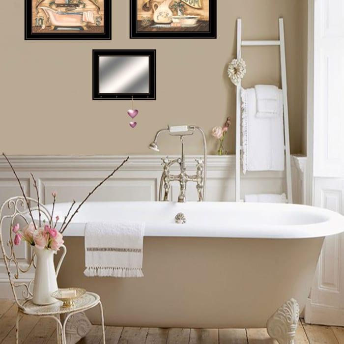 Bath & Powder Room By Becca Barton, Ready to Hang Framed Print Framed Wall Art