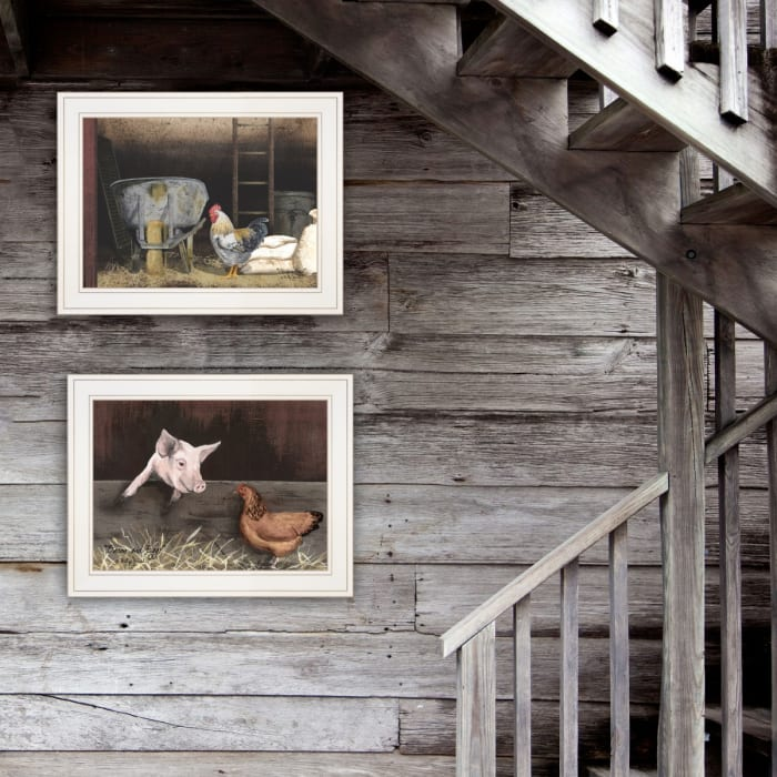 Bacon & Eggs 2-Piece Vignette by Billy Jacobs Framed Wall Art