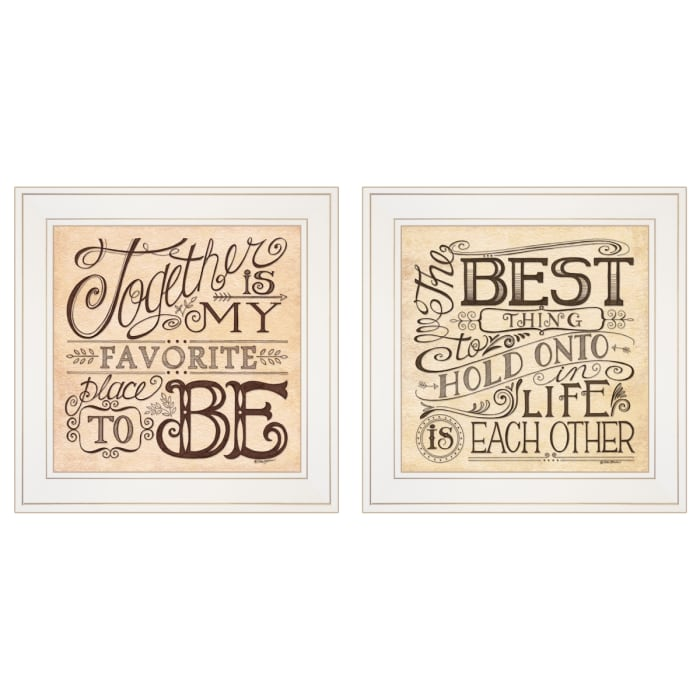 Together Each Other by Deb Strain Framed Wall Art