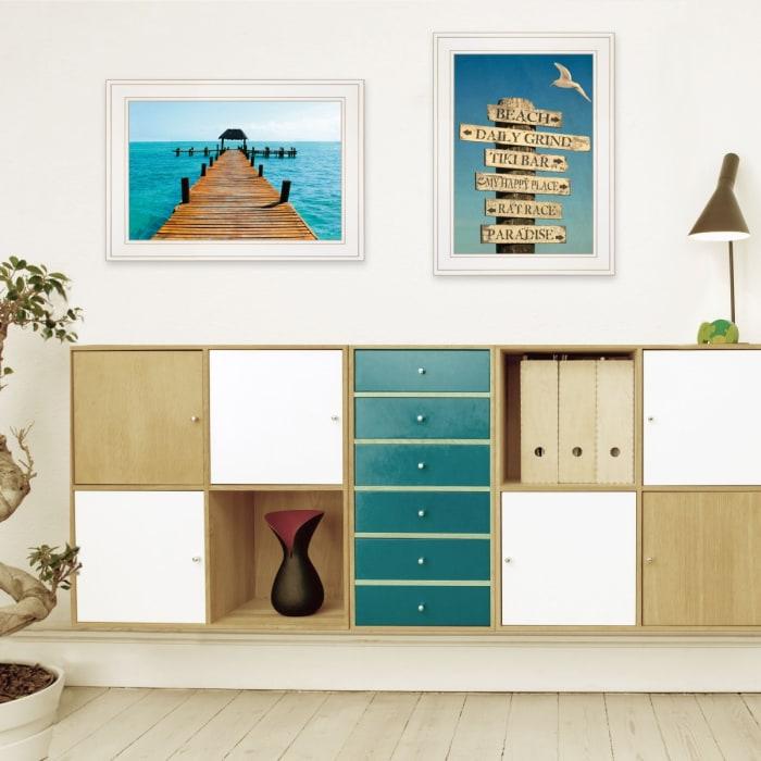 Beach Nautical 2 Piece Vignette by Graffitee Studios, White Frame