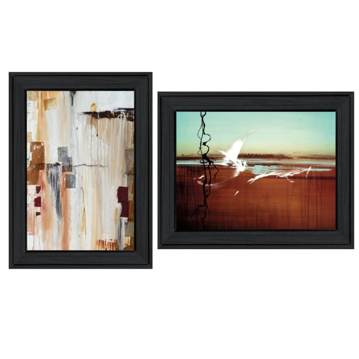 Abstract Flight 2 Piece Vignette by Cloverfield & Co Black Frame