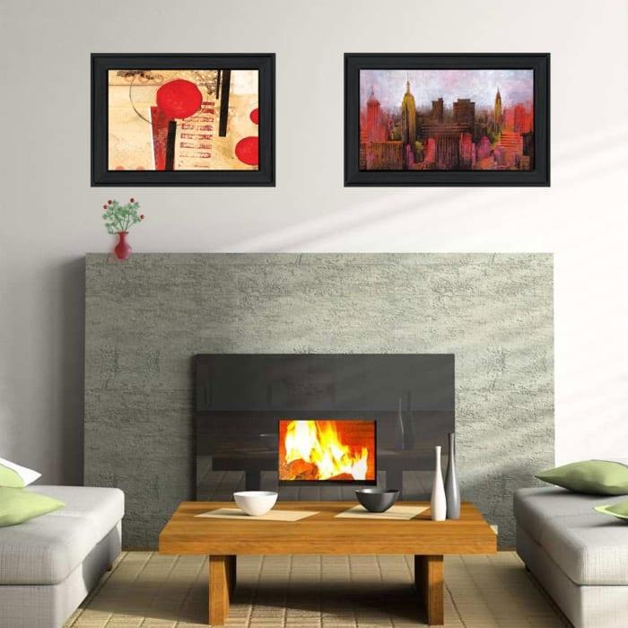NYC Harmony 2 Piece Vignette by Cloverfield & Co Black Frame