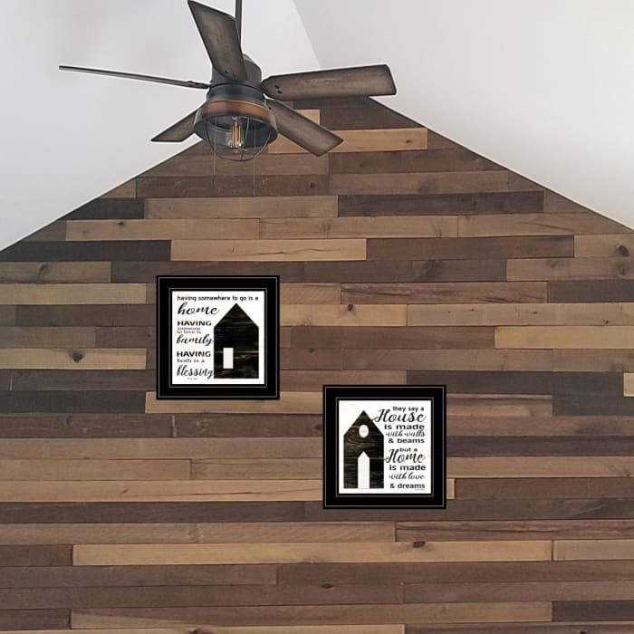 House/Blessing 2 Piece Vignette by Cindy Jacobs Black Frame