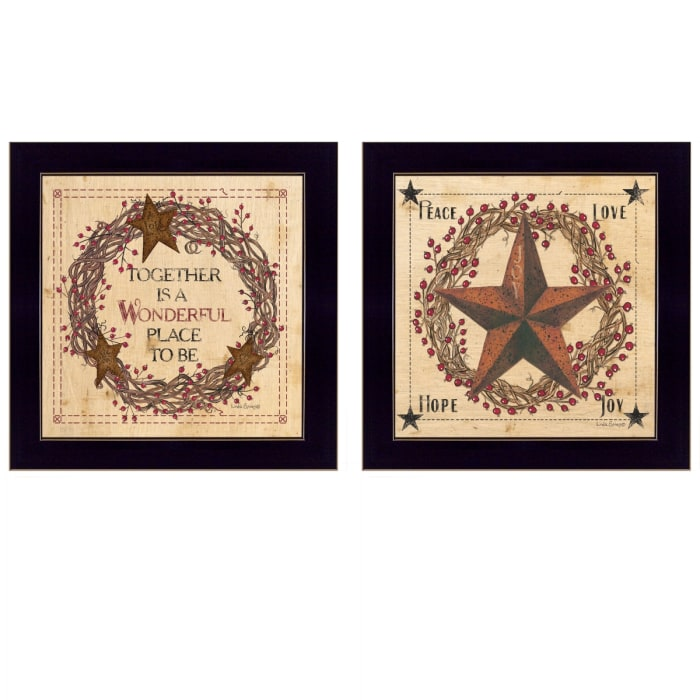 Together is a wonderful Place 2-Piece Vignette Framed Wall Art