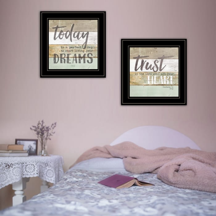 Trust in the Lord 2-Piece Vignette by Marla Rae Framed Wall Art