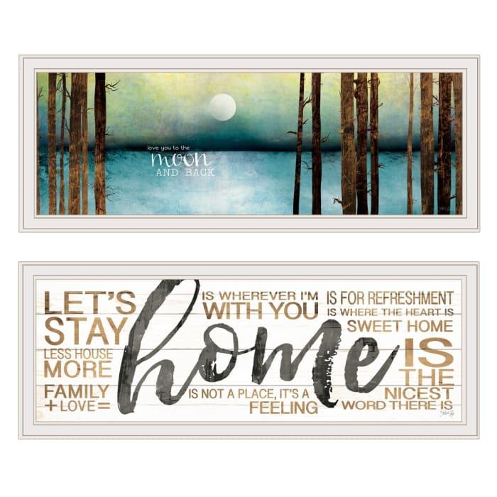Love Home 2-Piece Vignette by Marla Rae Framed Wall Art