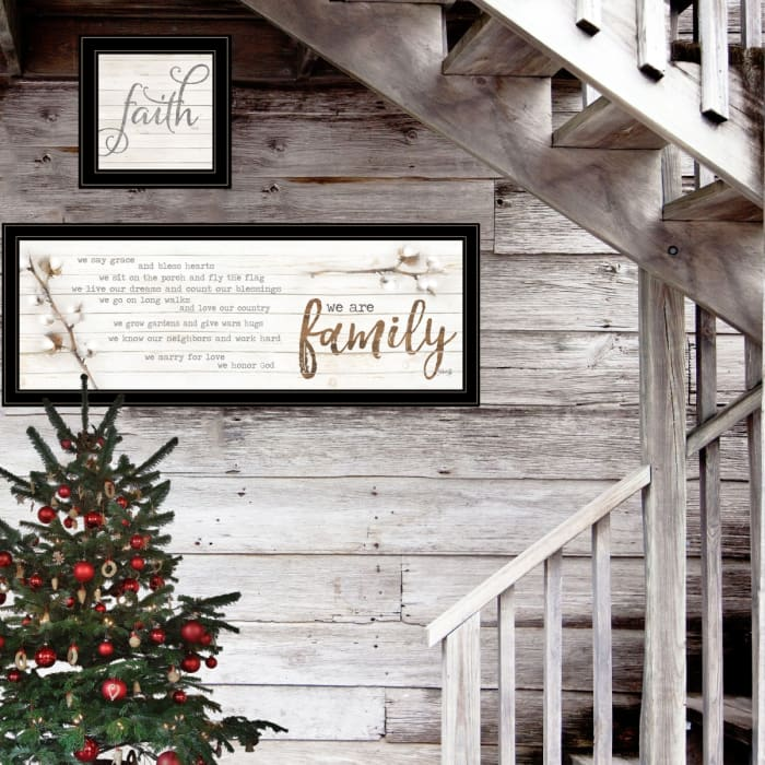 We are Family 2-Piece Vignette by Marla Rae Framed Wall Art