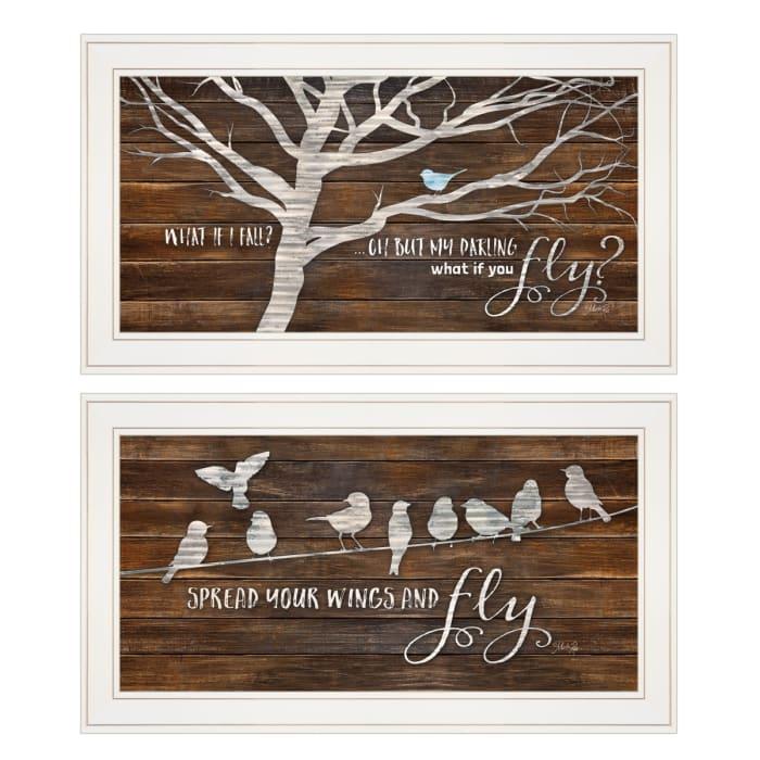 Spread Your Wings 2-Piece Vignette by Marla Rae Framed Wall Art