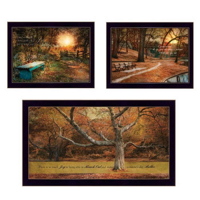Tranquil Spaces 3-Piece Vignette by Robin-Lee Vieira Framed Wall Art
