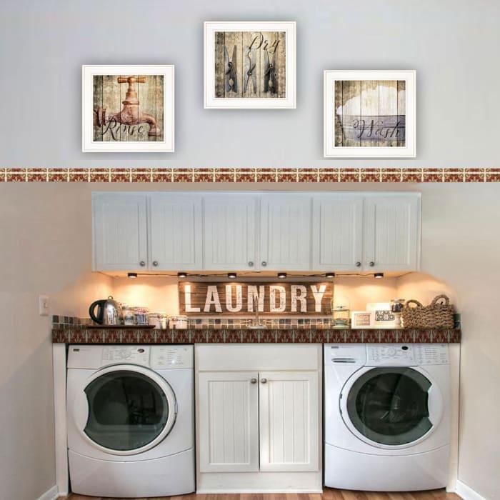 Wash 3-Piece Vignette by Misty Michelle Framed Wall Art