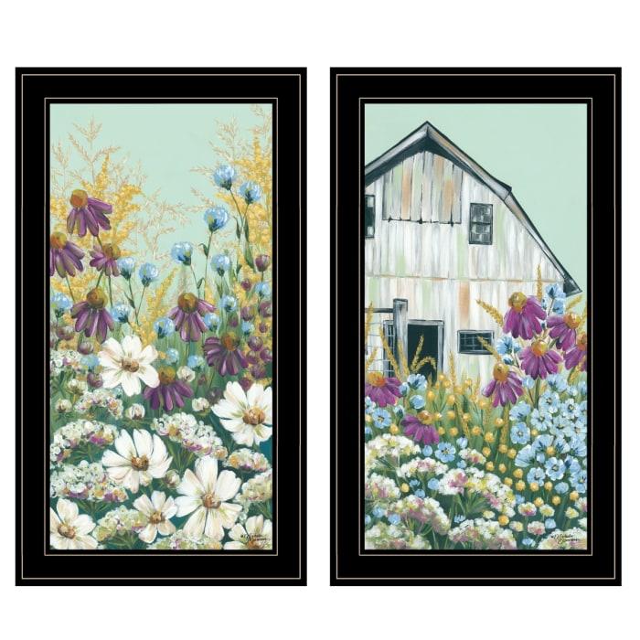Floral Field 2-Piece Vignette by Michele Norman Framed Wall Art