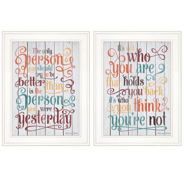 The Only Person 2-Piece Vignette by Susan Ball Framed Wall Art