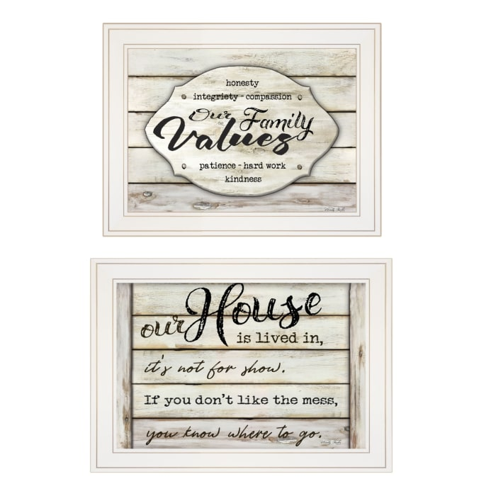 Family Values 2-piece Vignette By Cindy Jacobs Framed Wall Art