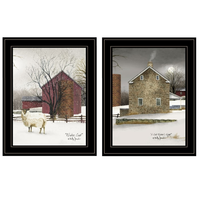 Cold Winter 2-Piece Vignette by Billy Jacobs Framed Wall Art