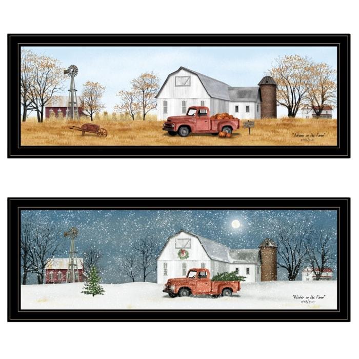 Billy Jacobs Seasonal-Autumn/Winter 2-Piece Vignette Framed Wall Art