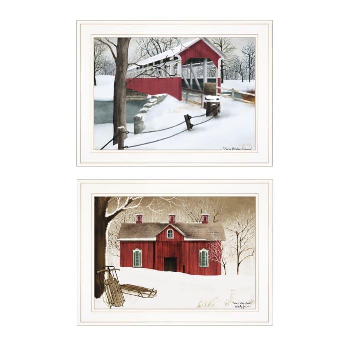 Winter Evening 2-Piece Vignette by Billy Jacobs Framed Wall Art