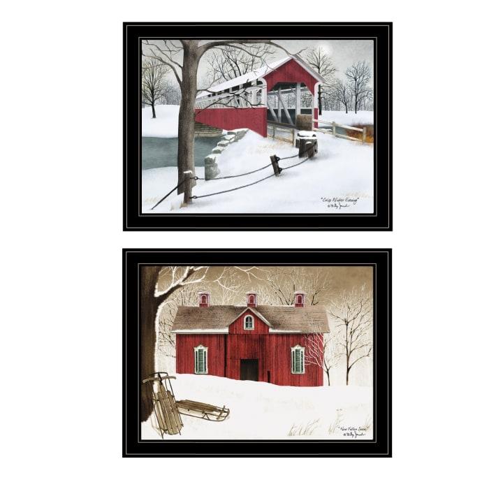 Crisp & New Fallen Snow 2-Piece Vignette by Billy Jacobs Framed Wall Art