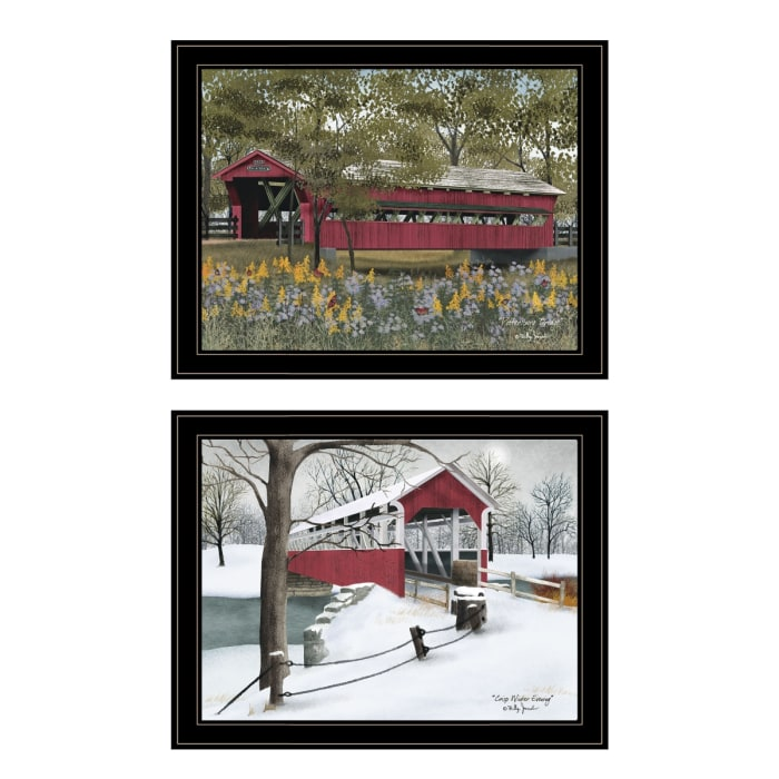 Covered Bridge Collection II 2-Piece Vignette by Billy Jacobs Framed Wall Art