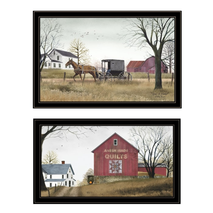Goin to Market 2-Piece Vignette by Billy Jacobs Framed Wall Art