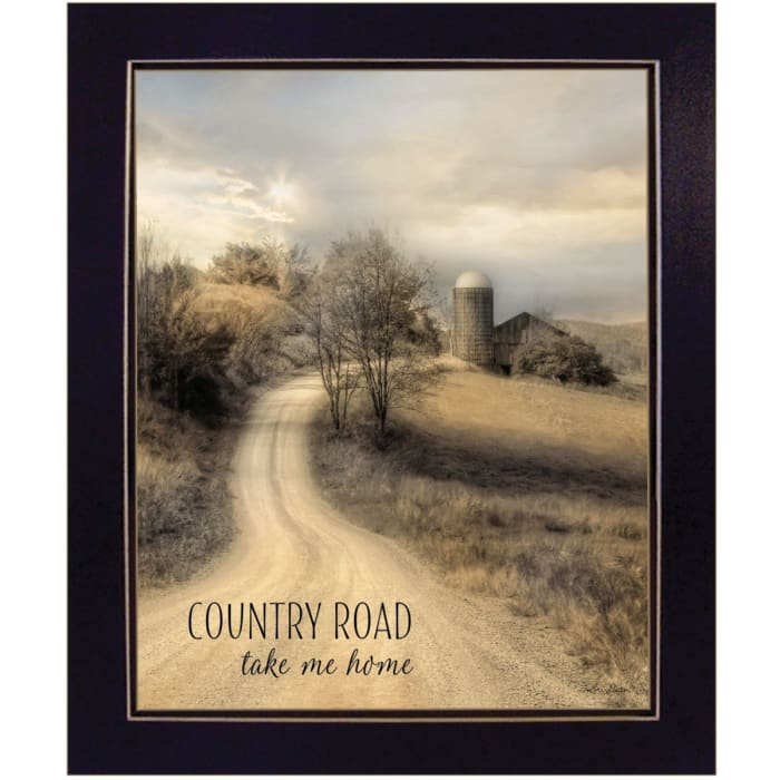 Country Road Take Me by Lori Deiter Framed Wall Art