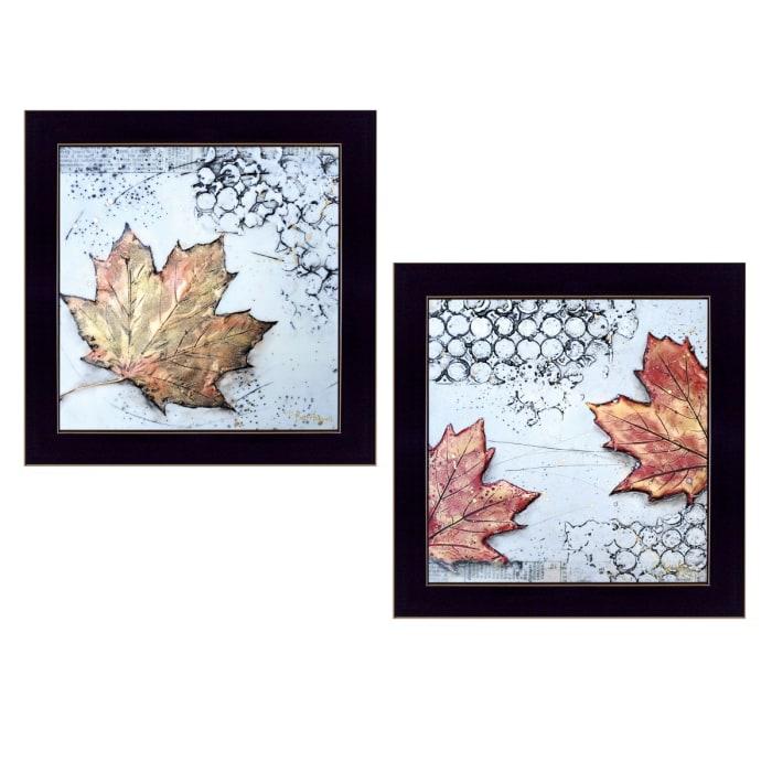 Channeling Fall Leaves I & III By Britt Hallowell Framed Wall Art