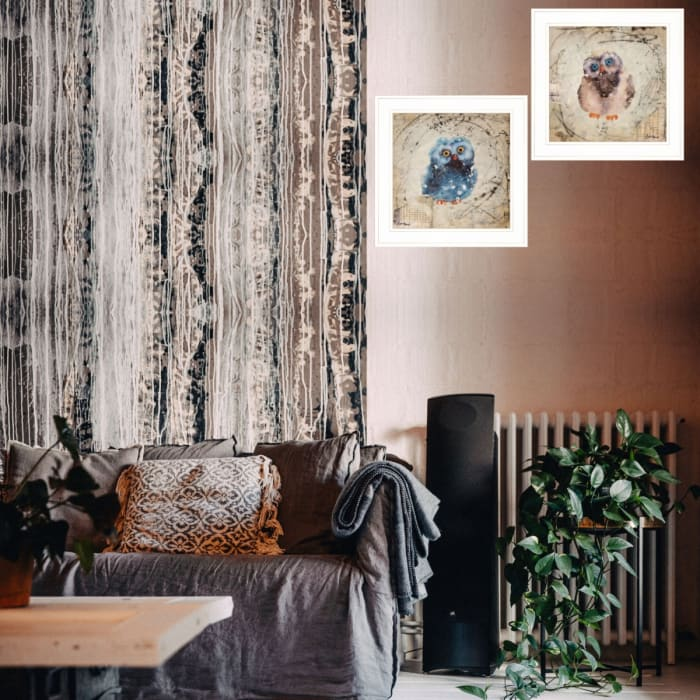 Wonder Years - Owls By Britt Hallowell Framed Wall Art