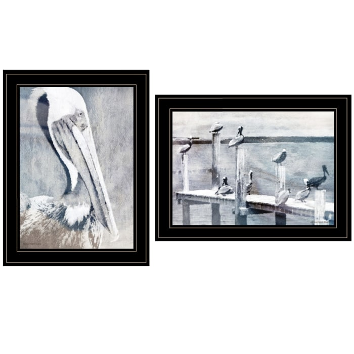 Pelican Party By Bluebird Barn Framed Wall Art