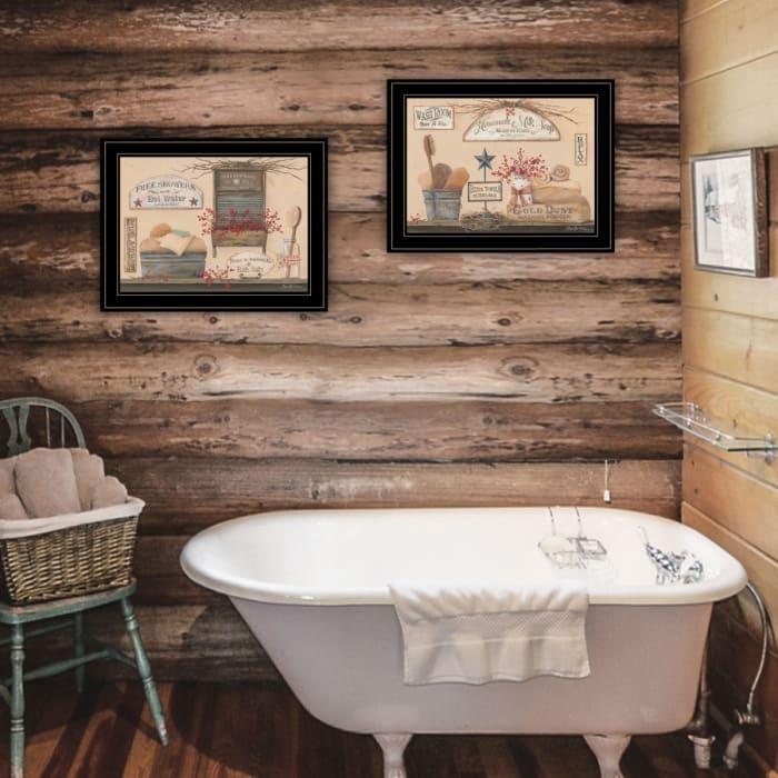 Wash Room By Pam Britton Framed Wall Art