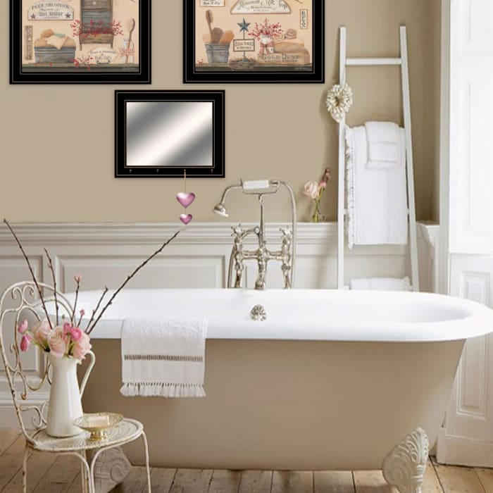 Wash Room Collection By Pam Britton Framed Wall Art