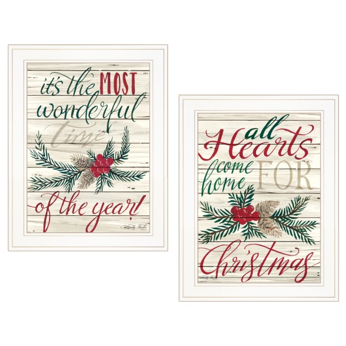 All Heart Come Home for Christmas By Cindy Jacobs Framed Wall Art