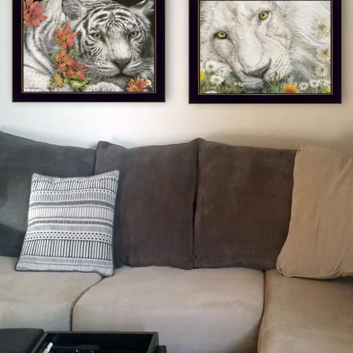 Tiger Lily Dandy Lion By Ed Wargo Framed Wall Art