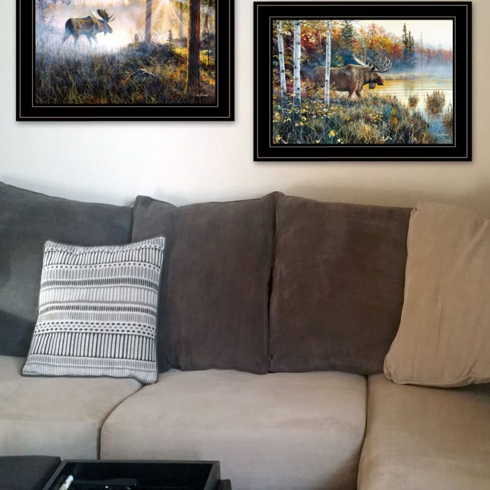 Moose Walk Collection By Jim Hansen Framed Wall Art