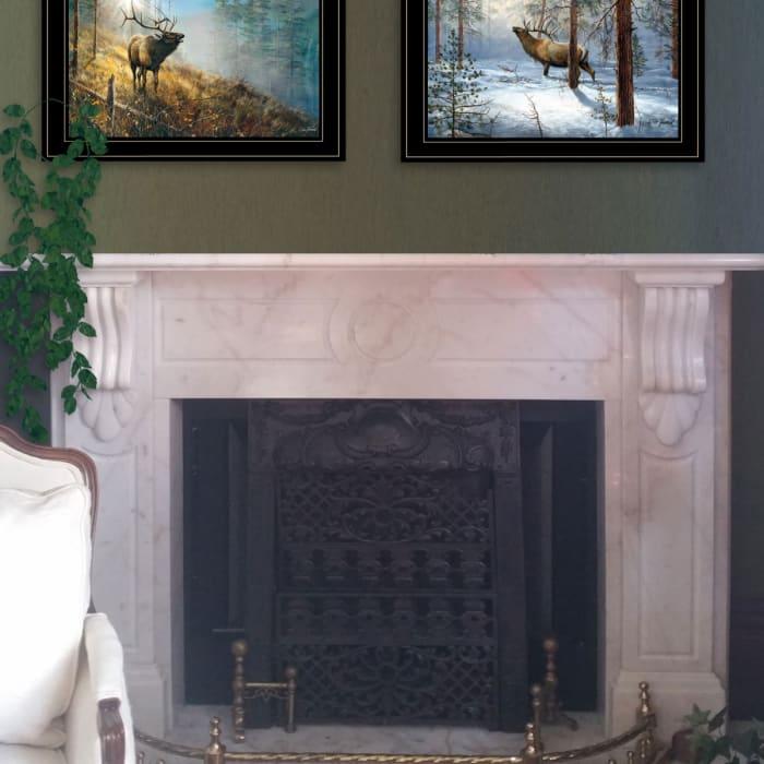 Elk Collection By Jim Hansen Framed Wall Art