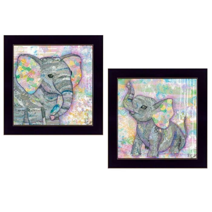 Elephant I & II By Lisa Morales Framed Wall Art