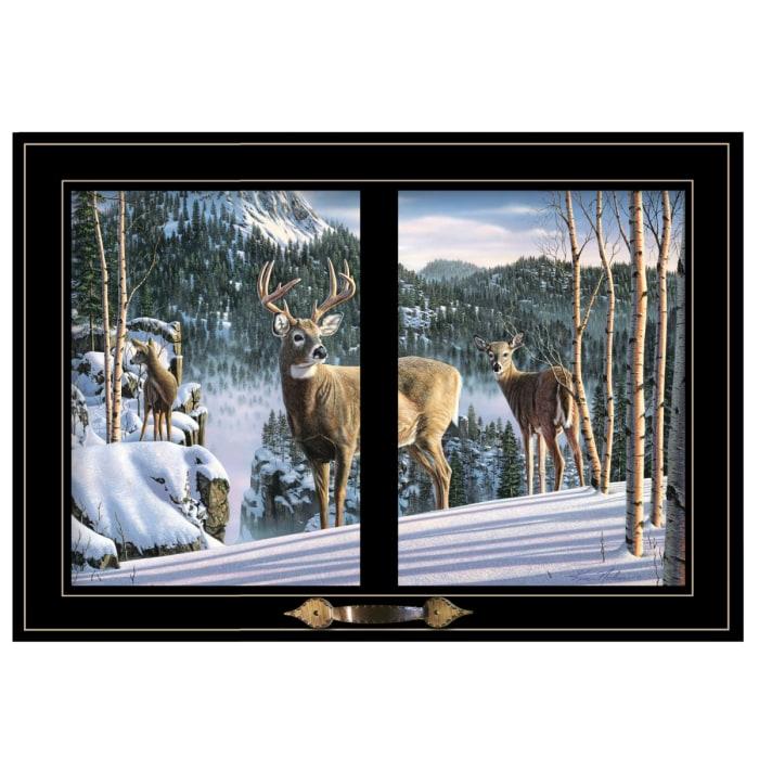 Morning View Deer by Kim Norlien Framed Wall Art