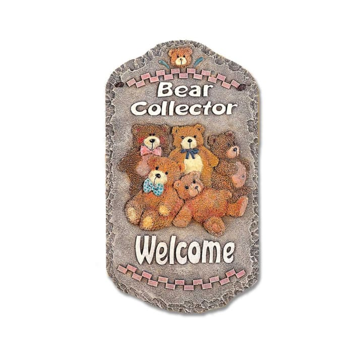 Welcome Sign Bear Collector Wall Decor