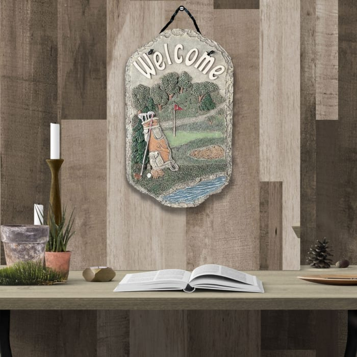 Welcome Sign Golf Wall Decor