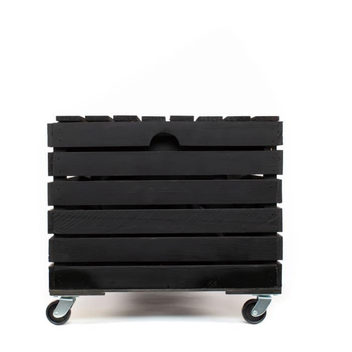 Handmade Wood Wheeled Storage Box