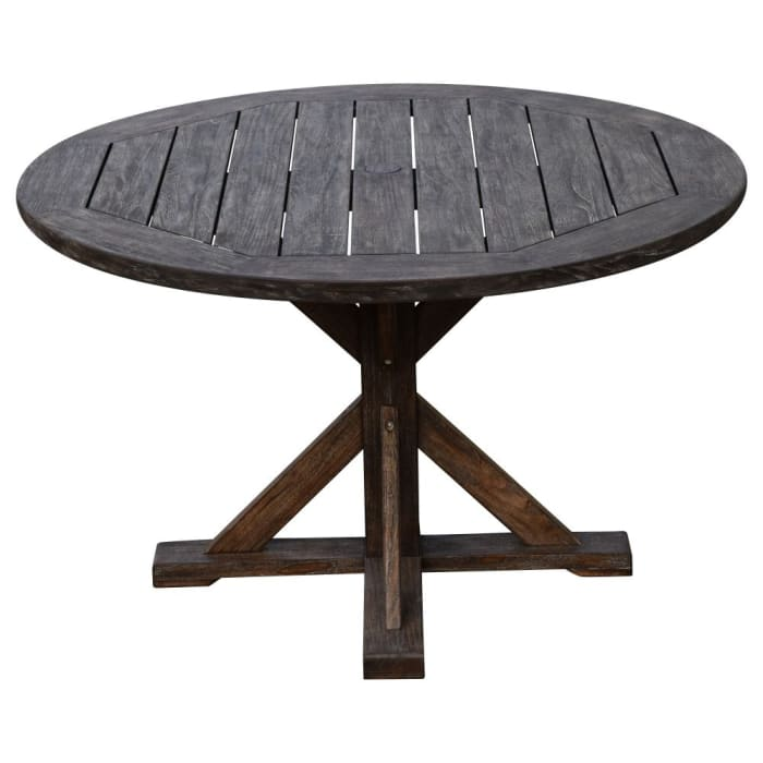 Courtyard Casual Round Flag Leg Dining Table
