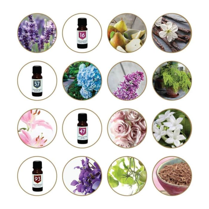 Flower Scents Home Fragrance Diffuser Oils Set of 4