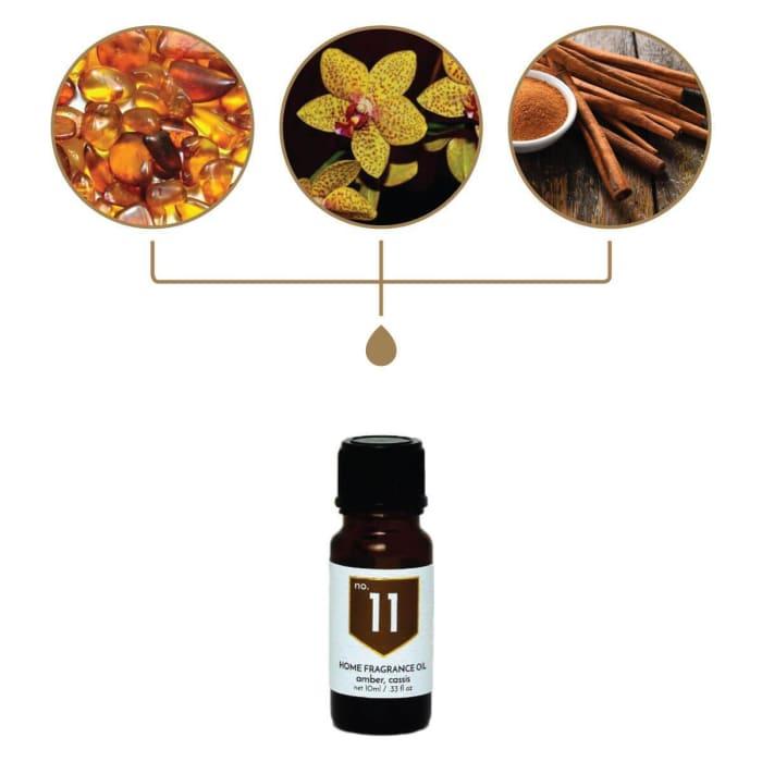 No. 11 Amber Cinnamon Home Fragrance Diffuser Oil
