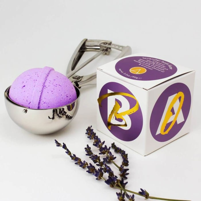 Lavender Essential Oil Bath Fizzer Gift Set of 4