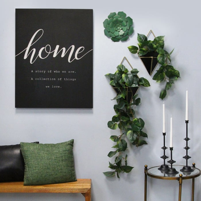 Home Matte Black Oversized Wall Decor