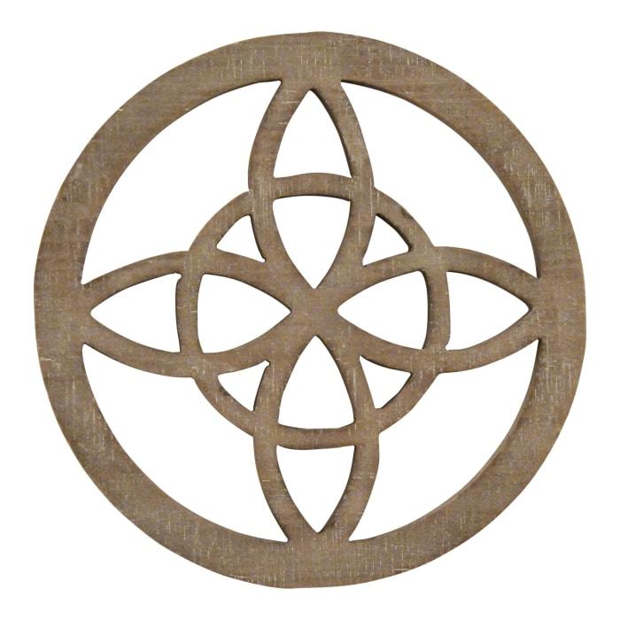 Celtic Inspired Design Wood Medallion Wall Decor
