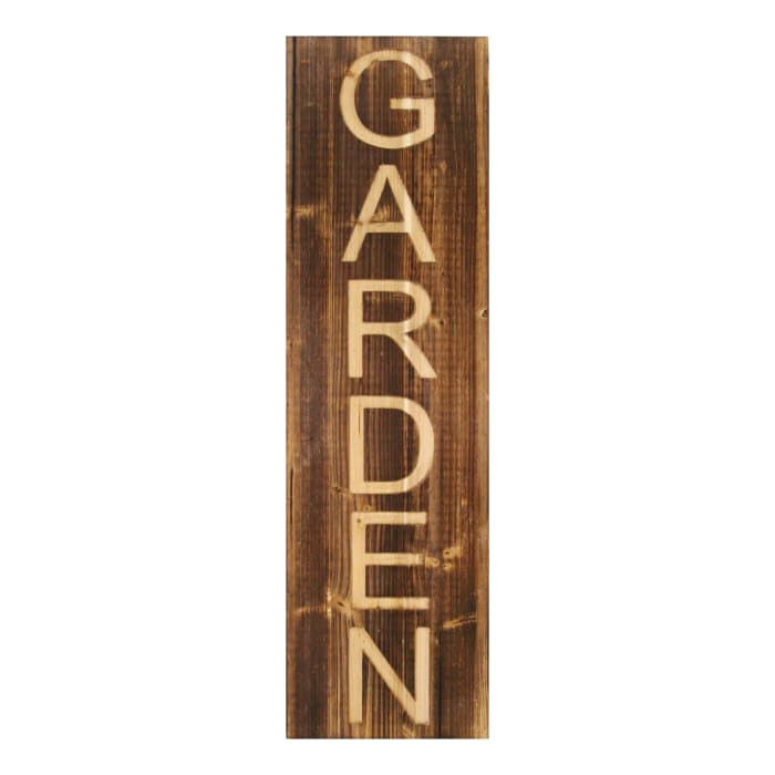 Carved Garden Panel Wood Wall Decor